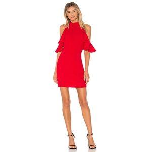 Amanda Uprichard Haven Dress in Scarlet Size MED